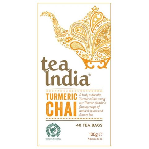 Turmeric Chai Tea India 100g (40 Tea Bags)